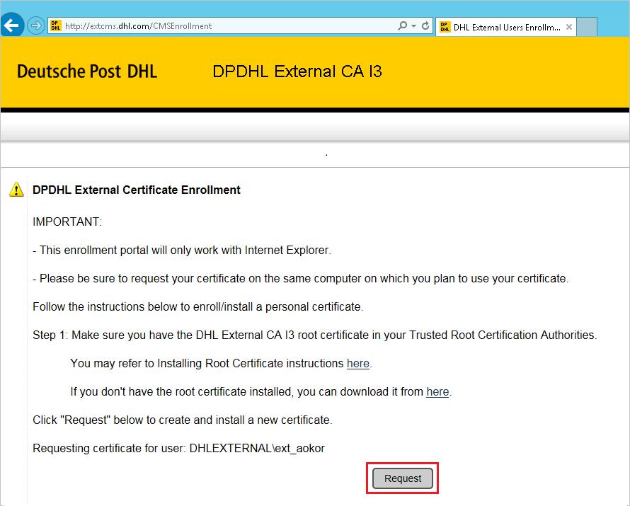 Deutsche Post DHL | External Access